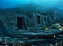 Japan. The underwater city of Yonaguni