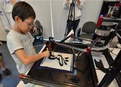 Modern technology in calligraphy for kids